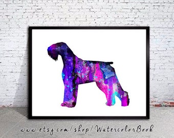 Giant Schnauzer Watercolor Print, Giant Schnauzer art, Home Decor, dog watercolor,watercolor painting, dog watercolor print