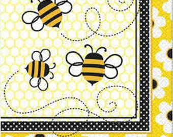 1/ Bumble Bee Luncheon Napkins (16 Pack)