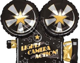 1/ Hollywood Camera  Balloons/ movie night / movie balloon/ camera balloon / movie night