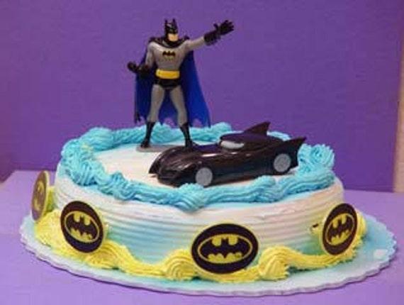 Batman Cake Decoration Kit : 1/ Batman Cake Decoration Kits by Mylittleshopsupplies on Etsy