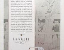 1932 Cadillac La Salle V-8 Convertible Coupe Ad - 1930s Classic Cars - Colonial Stagecoach Illustration - Rudolf Lesch Fine Arts