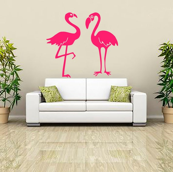 Flamingo Wall Decals Decal Vinyl Sticker Bathroom By CozyDecal