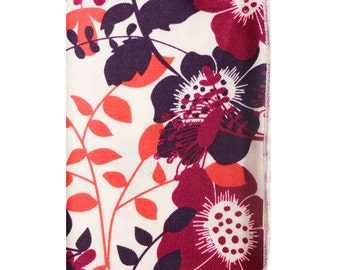 Multi Colored Floral Print on Cream Ground Pocket Square