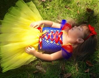 Snow White Costume Tutu  Dress *Snow White Inspired