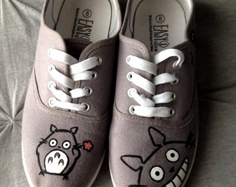 Made to order custom-painted Totoro shoes