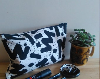 YOUSE X EL-AICH Handmade Screenprinted Zipper Pouch Bag