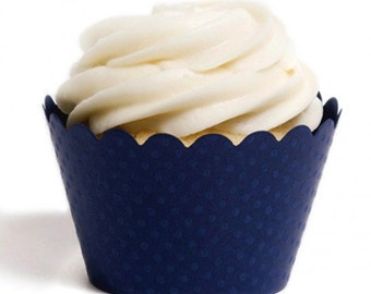 Navy Blue Cupcake Wrapper (Set of 12)