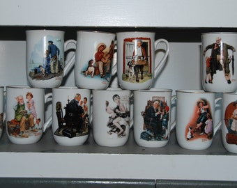 Norman Rockwell collectable mugs/ cups
