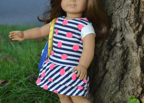 American Girl Doll Clothes, 18 in doll clothes- Ruffle Dress