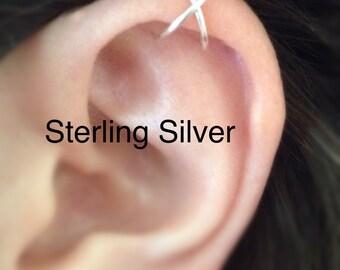 Cross Upper Cartilage Ear Cuff