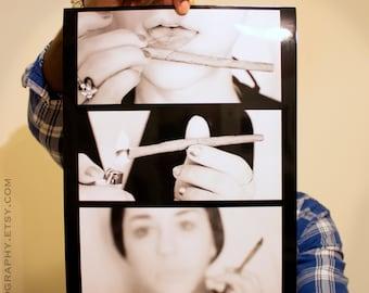 BLUNT GIRL #1 Poster - Cannabis Poster - Dab Art - Pot Leaf - 420 Print - Marijuana Photo - POTography Weed Pipe - Bong Sticker - Ganja girl