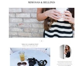 "Premade Wordpress Website Theme ""Mimosas & Bellinis"" - Responsive E-Commerce Self-Hosted Wordpress Blog Theme"
