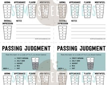 Printable Score Cards for Beer Tasting Party
