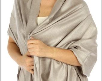 Light gray pashmina scarves - light gray wedding scarves - light gray bridesmaid gift - light gray bridal shower favors - light gray wedding