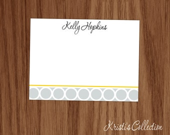 Personalized Flat Note Card Notecards for Ladies - Personal Stationery Stationary for Girls - Custom Thank You Notes Girls Ladies Mom Gifts
