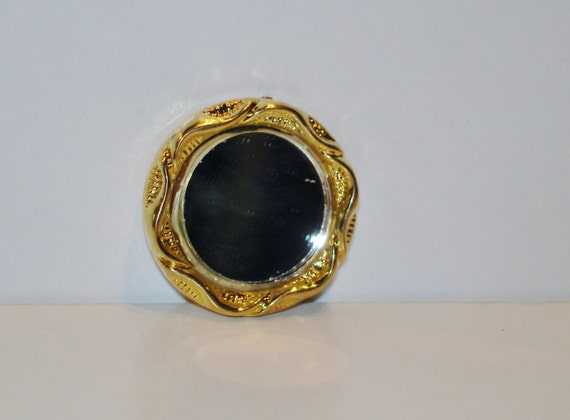Mini round gold mirror small for Small gold mirror
