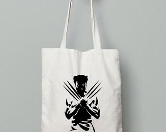 Wolverine Tote Bag - Shopping Tote Bag - Canvas Tote Bag - Printed Tote Bag - Cotton Tote Bag - Large Canvas Tote - Library Bag - Book Bag
