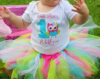 Look whoo's one Owl 1st Birthday PERSONALIZED name digital iron on transfer clip art image DIY for Shirt