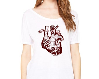 Steampunk Heart on Slouchy Tee