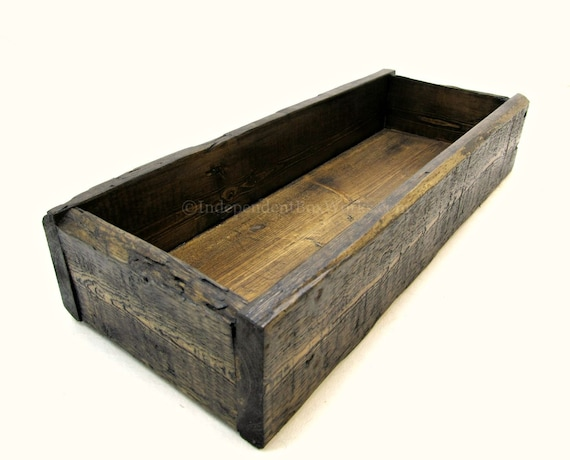 Rustic wooden centerpiece box handmade from reclaimed pallet