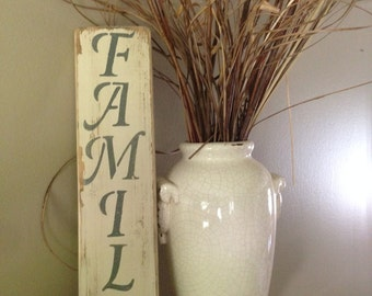 "Distressed Wooden ""Family"" Sign"