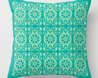 Turquoise Cushion, Turquoise Pillow, Decorative Pillow, Green Throw Pillow, Modern Toss Cushion, Designer Cushion, Modern Cushion, Turquoise