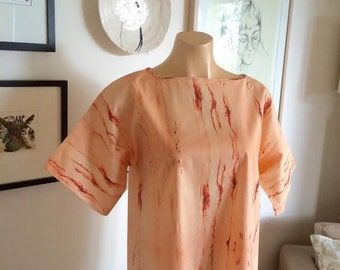 Red Crayon Shift Dress ~ Loose Fit // SMALL/MEDIUM