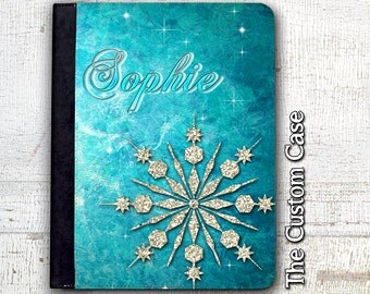Frozen Ipad Case, Your Name in Ice, Personalized Glitter Snowflake Ipad Case, Ipad 2/3/4 Case, Ipad Air 1/2 Case, Ipad Mini Case