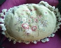 small dot pillow, aubusson type.