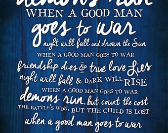 "Doctor Who Quote Print ""Demons Run"""