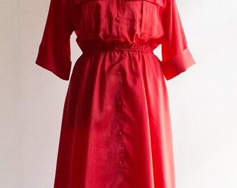 Vintage Dress // 80s // Red