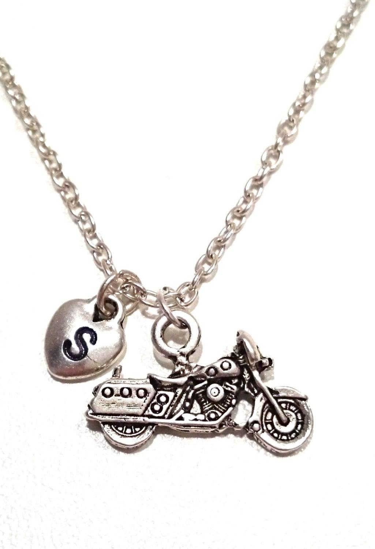 motorbike necklace motorcycle necklace motorbike charm