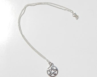 Wiccan necklace etsy pentagram necklace pentagram choker choker pentacle necklace wiccan necklace pagan necklace aloadofball Choice Image