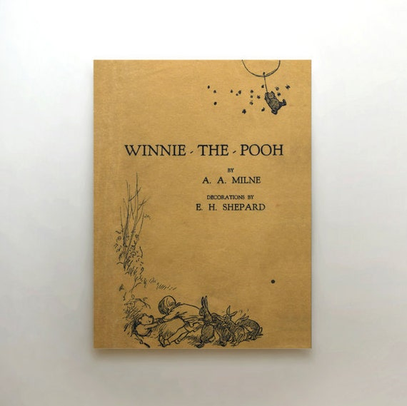 Classic Book Covers On Canvas : Winnie the pooh canvas art vintage book cover by
