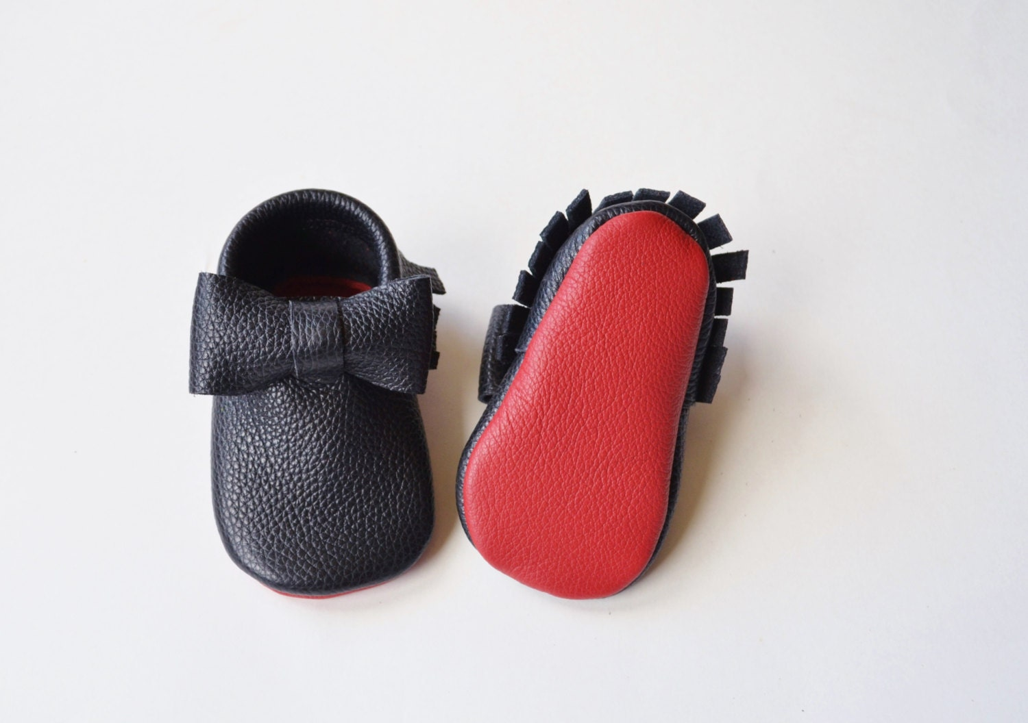 Red Bottom Baby Moccasins. Baby / Toddler Moccasins Loub