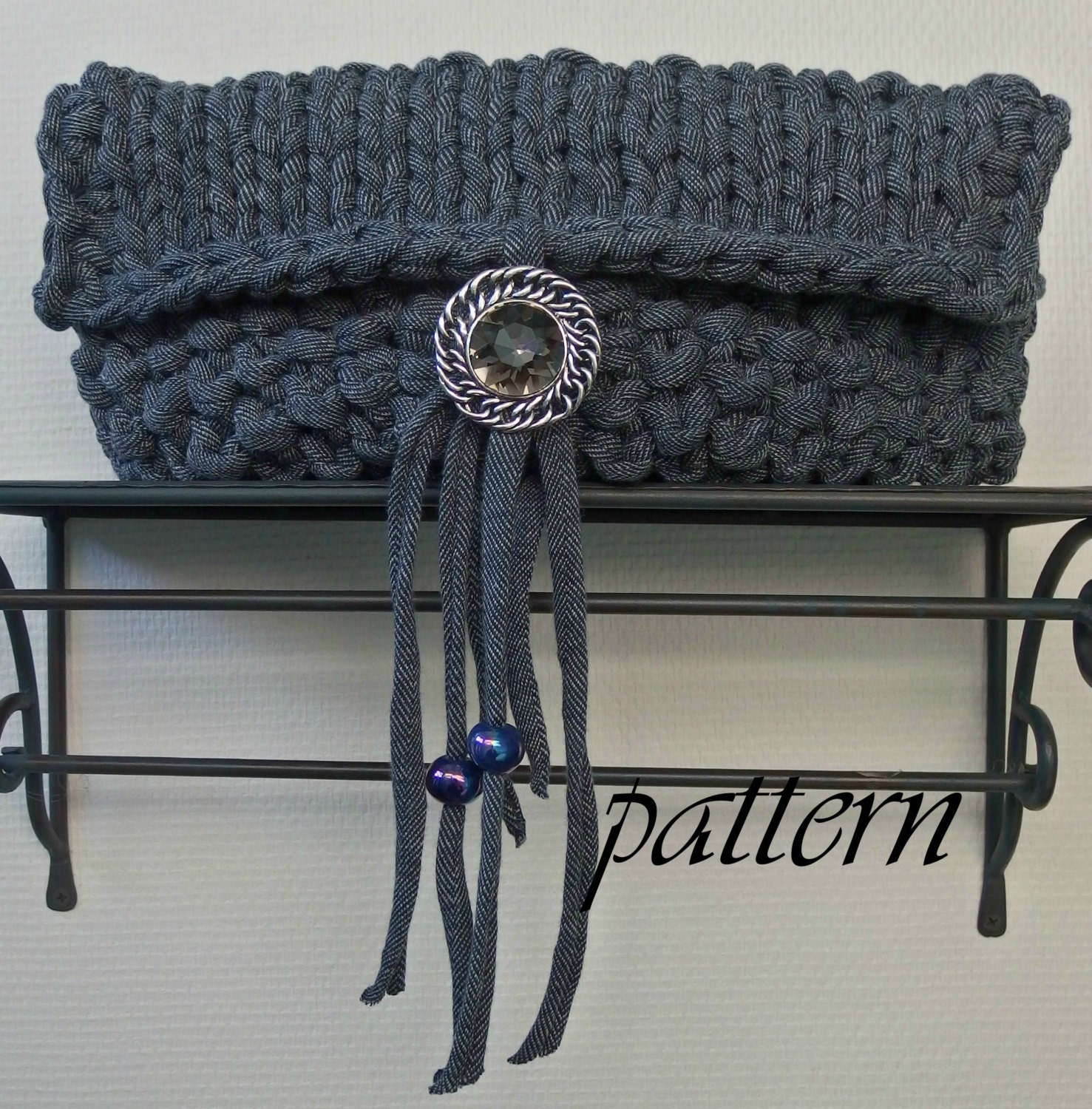 Knitting pattern t-shirt yarn clutch with by ...