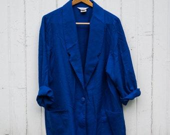 Vintage Blue Blazer | womens