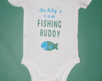 Daddy's New Fishing Buddy Onesie