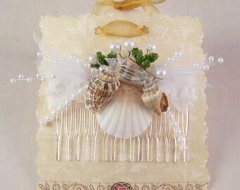 Seashell Hair Comb, Bridal Hair Comb, Bridesmaid Hair Combs, Prom Hair Comb, Vacation Decorative Combs, Hair Accessories, Beach Wedding,