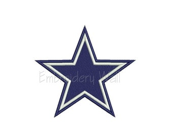 Embroidery design - Dallas Cowboys logo ~ INSTANT download machine embroidery pattern