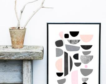 Modern Scandinavian, Art Print, Printable Art, Scandinavian Wall Art,  Abstract Art Print, Wall Decor, Wall Art, Digital Download