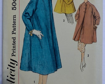 1950's Coat Simplicity 2376 Vintage Sewing Pattern