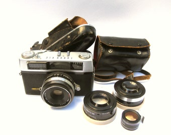 Taron VIC Camera with Lenses and Case, Vintage Taron Camera, Vintage 1960s Camera, Vintage Photography with Lens