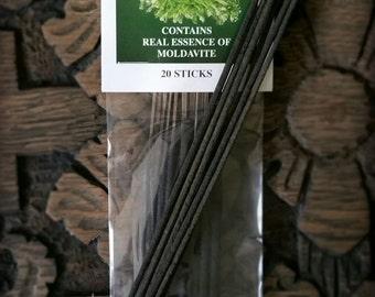 REAL Ground Moldavite Incense (authentic essence)