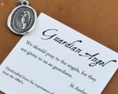 Guardian Angel Wax Seal Necklace - Angel Necklace Guardian Angel Jewelry - 274