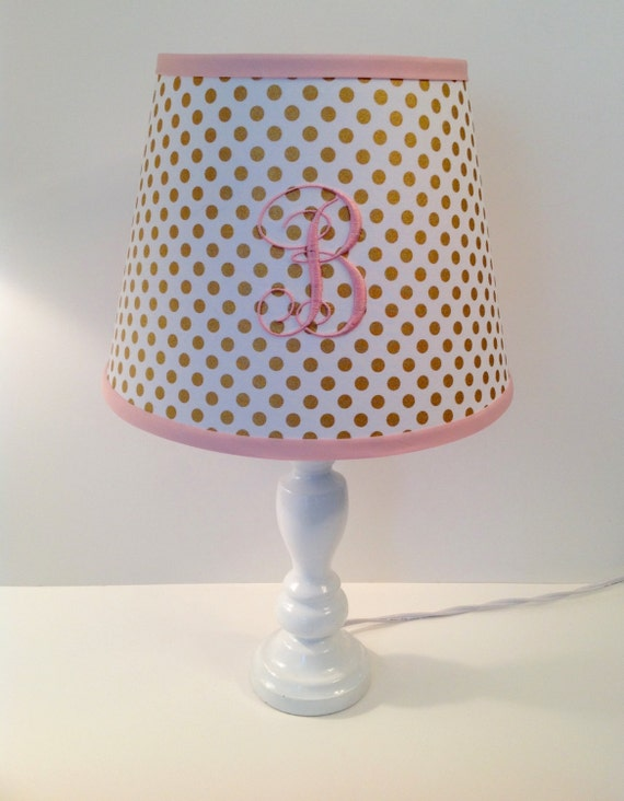 Spot On Gold Metallic Polka Dots Lamp Shade Other Colors