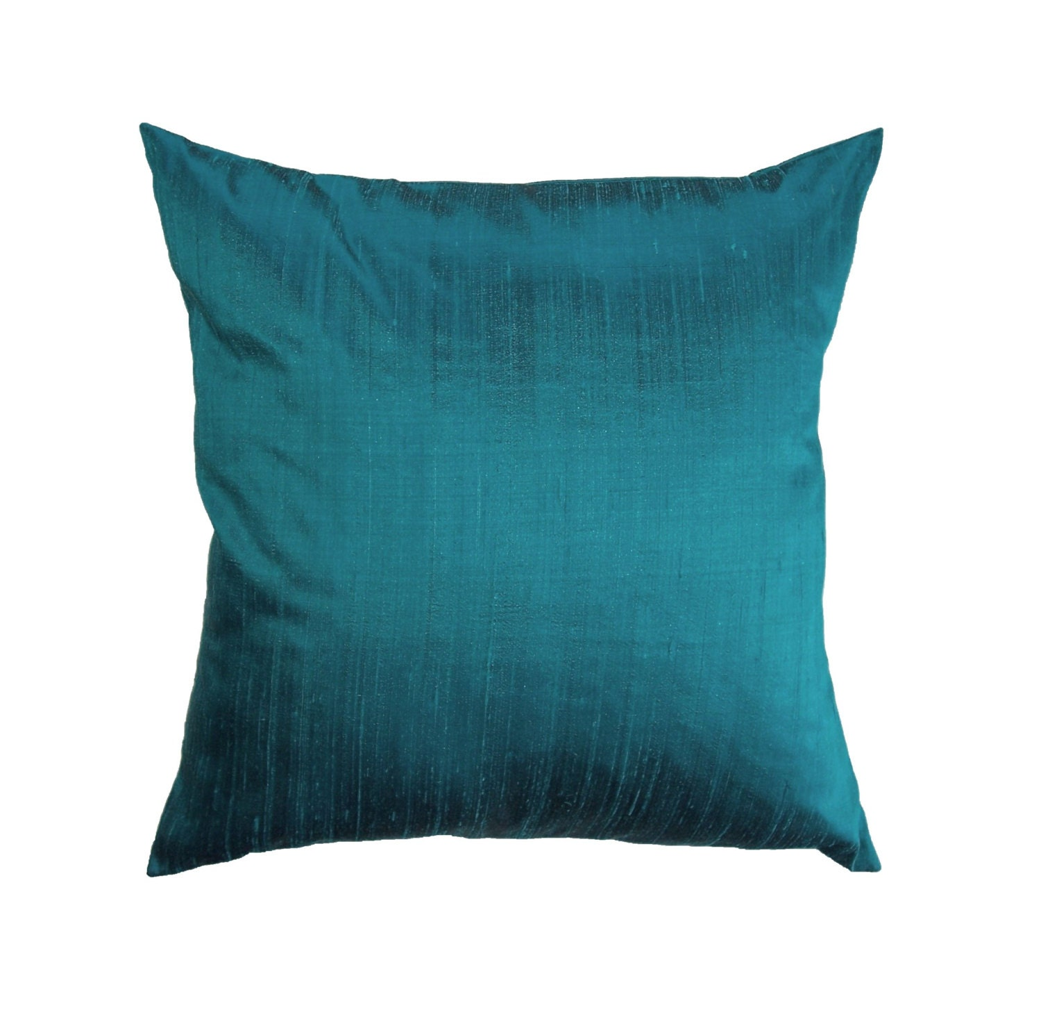 Throw Pillow Turquoise : Turquoise Pillow Cover Silk Turquoise Throw Pillow Cover