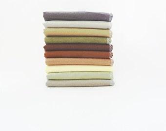 Natural Cloth Napkins - Reusable Paper Towels - Unpaper Towels - Colors of Cotton - Flannel Napkins - Eco Friendly - Soft -  10 x 12 cb