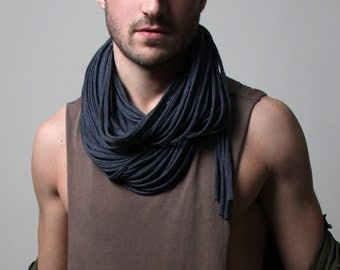 Burning Man, Festival, Birthday Gift, Gray Scarf, Gift Ideas, Gift Ideas, For Him, Mens Necklace, Festival Clothing, Mens Jewelry