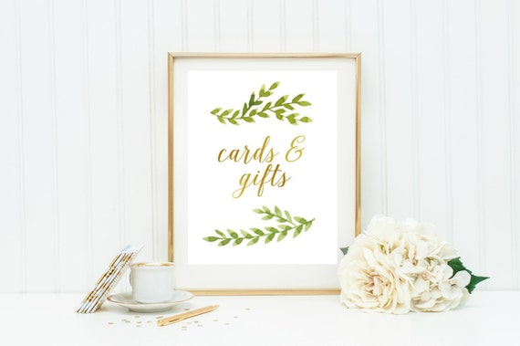 Cards And Gifts Wedding Sign Printable Instant Download Card